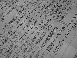 2007年4月25日の日経(朝刊)